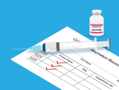 COVID-19 three-dose vaccine illustration