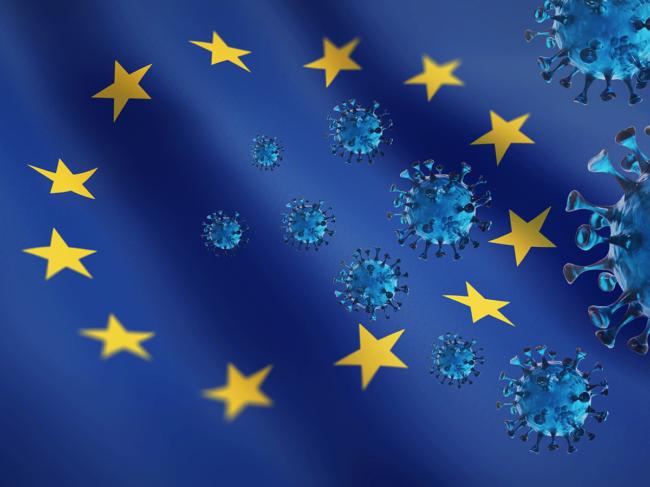 European Union map and coronavirus