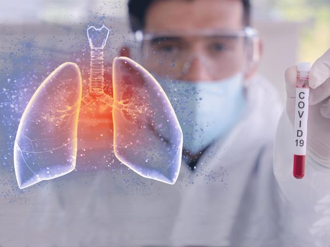 Coronavirus-lungs-test-tube