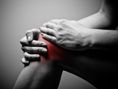 Knee pain illustration