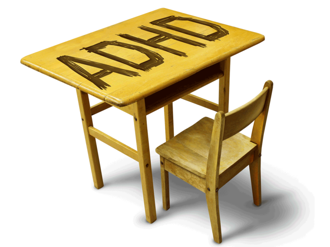 ADHD carved into desktop