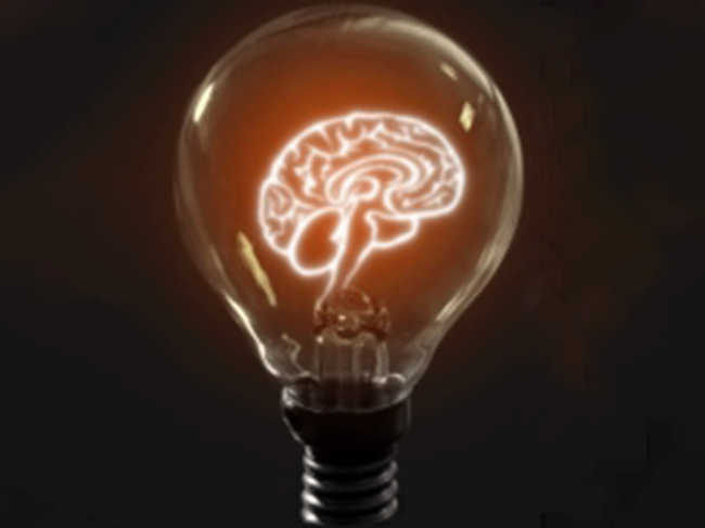 Brain as light bulb filament