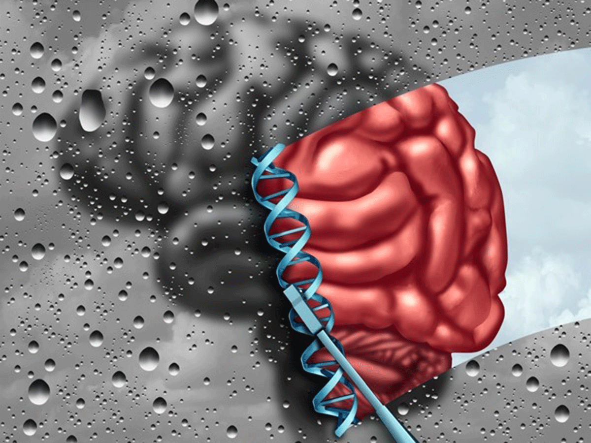 Brain-DNA illustration