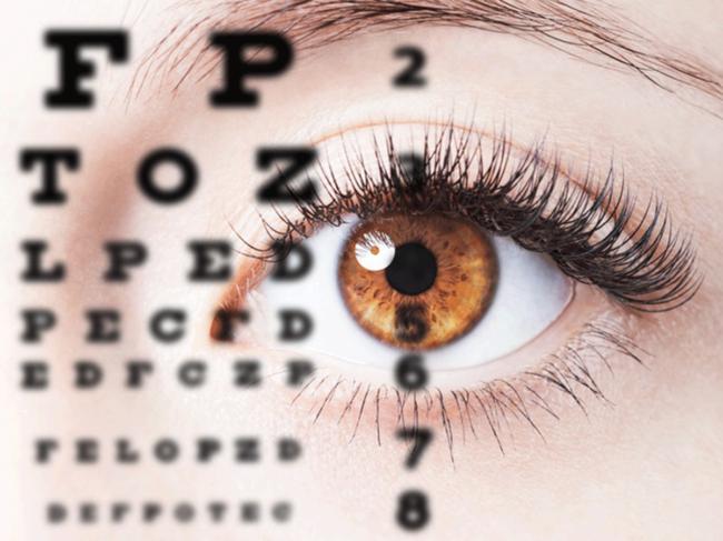 Eye and eye chart