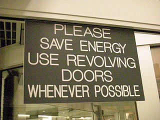 revolving door sign