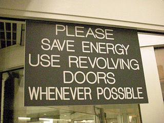 revolving door sign